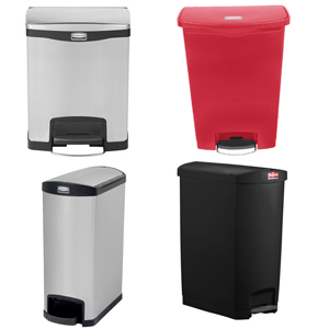 Step-on Slim Jim Waste Bins