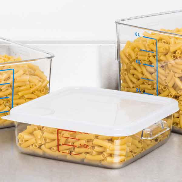 Square Food Storage Containers Clear with quantity indicators