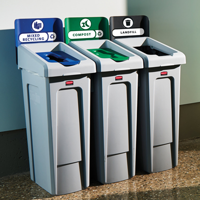 Rubbermaid SLRS Slim Jim Recycling Station