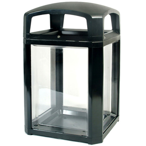 Landmark Series Black Security Container with Lock and Clear Panels - FG397589