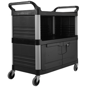 Equipment/Service Cart with Lockable Doors, enclosed 3 sides - FG409500