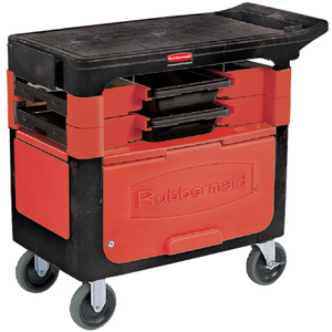 Rubbermaid Trades Cart with Locking Cabinet FG6180-88