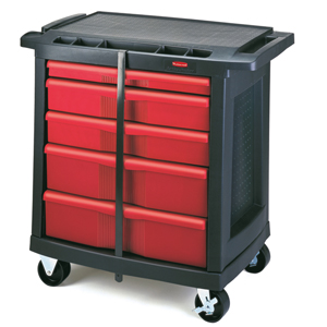 Rubbermaid 7734-88 5-Drawer Mobile Work Centre Cart