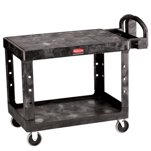 Large 2 Tier Heavy Duty Utility Cart w/Flat Shelf - FG4525